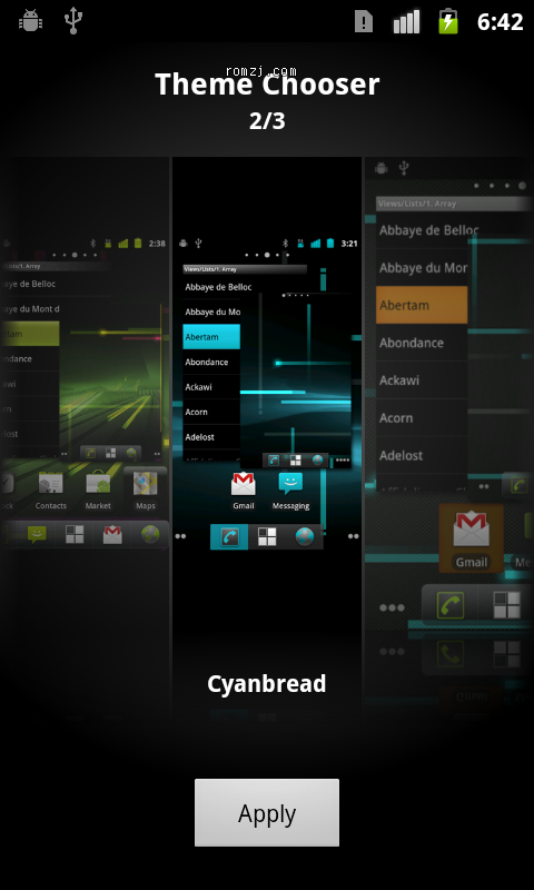 [Nightly 2012.09.23] Cyanogen 团队针对LG P999 定制ROM截图