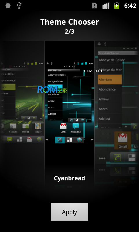 [Nightly 2012.10.28] Cyanogen 团队针对三星 Galaxy Ace(S5830)定制ROM截图